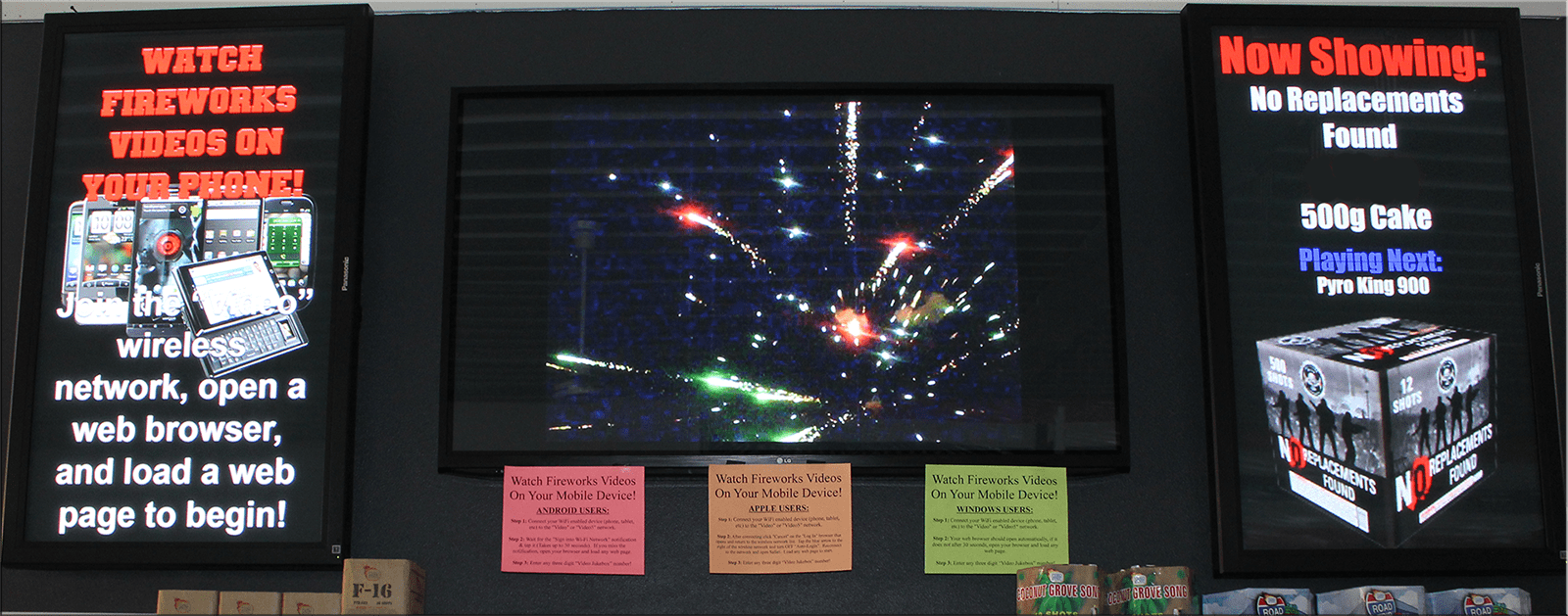 Wisconsin Fireworks Video Wall